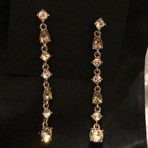 Givenchy Crystal Linear Earrings NWT